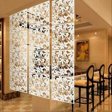 Hanging Room Divider Plastic Screen Panel for Home Rooms Decoration White