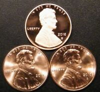 2018 P&D&S Lincoln Shield Cent Gem Proof and Uncirculated Penny Set 2018 PDS