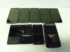 LOT OF 9 MIX MOTOROLA NOKIA ACER BLACKBERRY PHONE VERIZON AT&T PART OR REPAIR