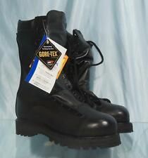 "New US Made 10"" MATTERHORN Black Leather Safety Toe Gore-Tex Combat Boots Sz 5M"