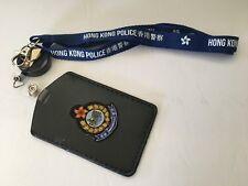 Neckstrap #1D - H. K. P.  Neckstrap & vertical cardholder w/badge