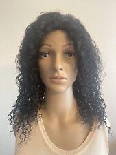 "100% Human Hair Wig Kinky Curly Black 16"""