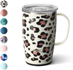 Swig Life 18Oz Triple Insulated Travel Mug With Handle And Lid, Dishwasher Safe,