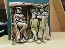 """Harmony Kingdom 'Picturesque Wimberly Tales The Harlot- 4""""x 4"""" tile in orig box"""
