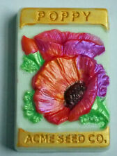 Poppy Seed Packet Artisan HandMade Soap Guest Gift Skin Holiday Birthday vintage
