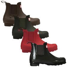 Hunter Ladies Original Chelsea Boots New Gloss Matte Wellingtons Ankle Festival