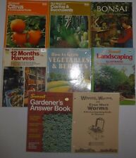 8 Lot Vegetable,Cactus,Landscap ing,Harvesting Gardening,WormsBooks,Suns et &Ortho