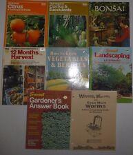 New listing 8 Lot Vegetable,Cactus,Landscap ing,Harvesting Gardening,WormsBooks,Suns et &Ortho