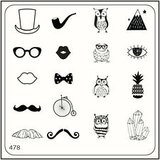 MoYou Nail Fashion Stamping Nail Art Image Plate 478 Trendy Style Owls