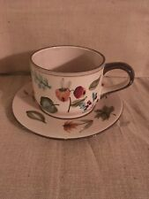 Longaberger Cup And Saucer - Botanical Fields - Homestead Exclusive