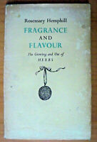 Fragrance and Flavour, by Rosemary Hemphill - HB/DJ 1960