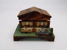 Swiss Chalet Music Wood Music Box Made in Switzerland (Watch Video)