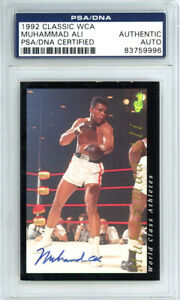 Muhammad Ali Authentic Autographed Signed 1992 Classic Card PSA/DNA 83759996