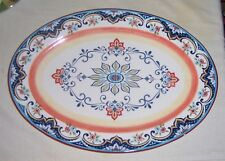 ~~  BELLA CASA BY GAMZ  ~~ LARGE SERVING PLATTER IN BOLD PRIMARY COLORS