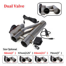 3' 76mm Electric Exhaust Downpipe Cutout E-Cut Out Dual Valve w/ Remote Control