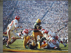 1967 Super Bowl I Green Bay Packers Elijah Pitts Game Action Color 8 X 10 Photo