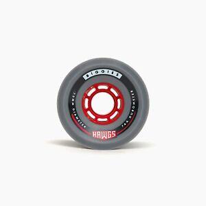 Set von 4 62/mm 90/a Hawgs Wheels Venables rot Skateboard-Rollen