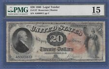 1880 $20 LEGAL TENDER FR-137 ♚♚ROSECRANS&HUSTON♚♚ PMG CH FINE 15 RARE NOTE!!!