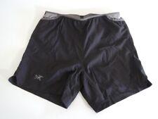 "Arc'teryx Men's SOLEUS SHORTS - 5.25"" Inseam Black Running Shorts Size SMALL"