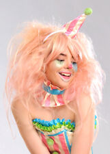 Womens Deluxe Candy Floss Pink Clown Wig DOES NOT INCLUDE HAT