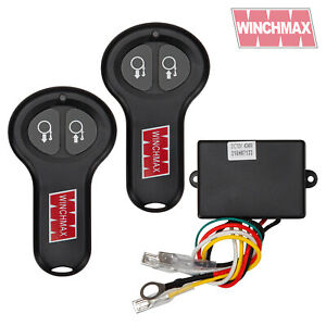 WIRELESS WINCH REMOTE CONTROL TWIN HANDSET WINCHMAX BRAND 12V 12 VOLT