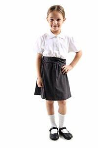 2 X GIRLS  Plain Polo Tee T-Shirt School Shirts Uniform PE Top Kids Tops