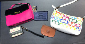 Lot Of 2 Purses And 3 Wallets Brands ; Coach , Dooney&Bourke , Juicy Couture