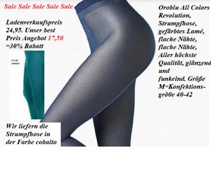 Oroblu All Colors Revolution Strumpfhose, 40 den, glitzernd, cobalto, M=40-42