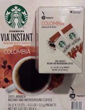 6 BOXES=78 PACKS STARBUCKS VIA INSTANT COFFEE MED ROAST COLUMBIA BEST 02/05/19