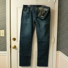 Hudson Button Fly Byron Selvage 5 Pocket Straight Leg Jeans sz 38 (39x34)