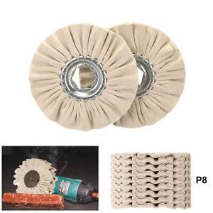 "4 Inch Cotton Airway Buffing Wheel Cloth Polishing Pad Tool for Metal 4/5"" Bore"