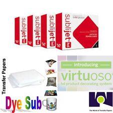 Sawgrass Virtuoso Ink Cartridges SG400/SG800 (CMYK) Set + 100 Sh Dye Sub Paper