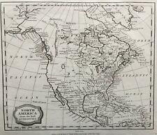 1806 Antique Map; North America - Barlow