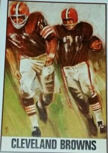 Cleveland Browns Poster - Jim Brown - Leroy Kelly - Paul Warfield - NFL - Sipe
