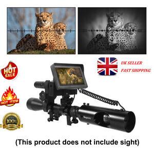 Night Vision Rifle Scope Hunting Sight Infrared IR HD Camera 4.3'' LCD Monitor