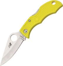 "Spyderco Ladybug 3 H1 Knife LYLP3 2 1/2"" closed lockback. H1 steel (rustfree) bl"