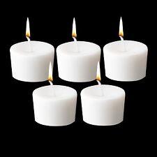 5 White Unscented Votive Wax Candles Tea light Home Patio Soft Elegant Lighting