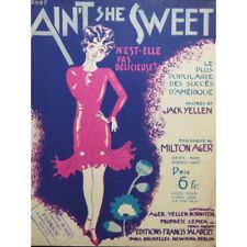 AGER Milton Ain't she sweet ? Piano 1927 partition sheet music score