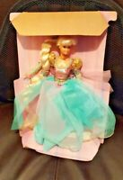Barbie as Rapunzel 1994 Doll still attached to liner, no box