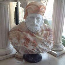 BUSTO GARIBALDI CM 75 IN VERO MARMO STATUA BUSTI PIETRA Classic Marble Sculpture