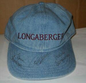 Longaberger Baskets Hat with Signatures