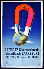 27th feria internacional en Bruselas 1953 vanypeco-Imán Cartel belga