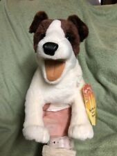 Jack Russell Terrier Animal Hand Puppet New Stuffed Plush Folkmanis  3y +