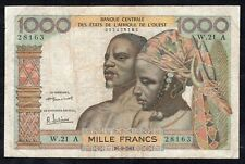1000 Francs From West African States 1961 Fine