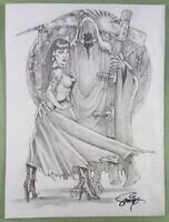 ORIGINAL ART  PRINT of VAMPIRELLA by SMITTY (SHIPS FREE)*