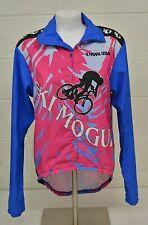 Pearl Izumi 'Ski Mogul' Pink & Blue Cycling Bike Windbreaker Jacket Men's Small