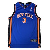 Reebok Vintage NBA New York Knicks Blue Jersey #3 MARBURY Youth XL Women's 18-20