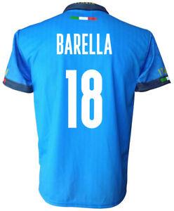 Maglia Italia BARELLA 18 Scudetto Replica Nazionale Maglietta Azzurra