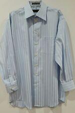Claiborne wrinkle free 100% cotton blue dress shirt Men's L 16