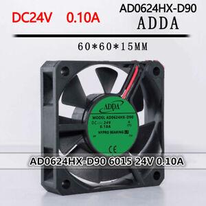 ADDA AD0624HX-D90 6015 24V 0.10A 6CM 2-pin inverter silent fan